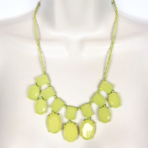 Kate Spade neon yellow Statement Necklace